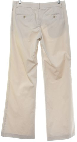 THEORY Ivory Striped Wide Leg Trousers Pants