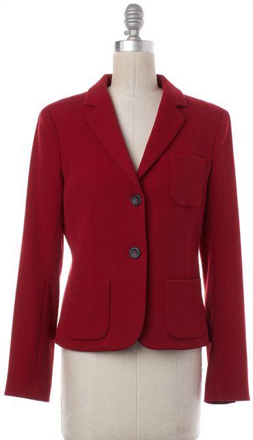 THEORY Red Wool Basic Jacket
