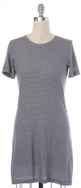 THEORY Blue White Striped T-shirt Dress