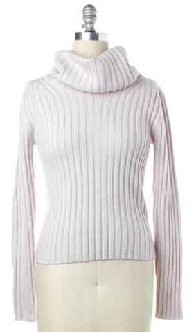 THEORY Lilac Wool Long Sleeve Cowl Neck Sweater
