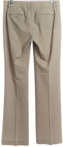 THEORY Beige Wool Wide Leg Trousers