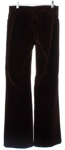 THEORY Brown Velvet Wide Leg Pants