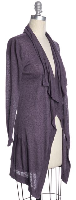 Maje Heather Gray Botoxique Open Waterfall Cardigan | Material World