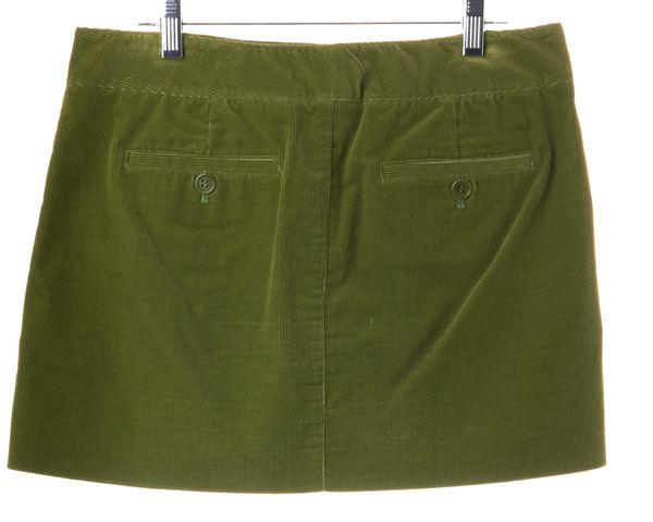 THEORY Green Corduroy Mini Skirt