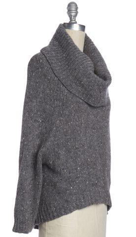 THEORY Gray Wool Cowl Neck Sweater