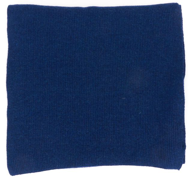 THEORY Blue Wool Wool Knit Long Scarf