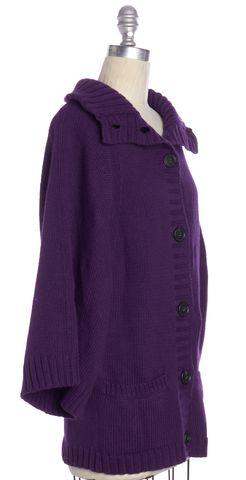 THEORY NEW NWT $385 Purple Kimono Sleeve Cardigan Size P