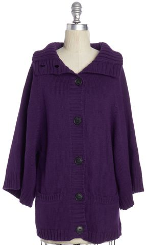 THEORY NEW NWT $385 Purple Kimono Sleeve Cardigan Size P