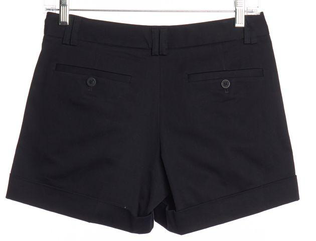 THEORY Navy Blue Cuffed Pleated Dress Shorts