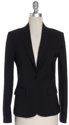 THEORY Black Wool Blazer Size 2