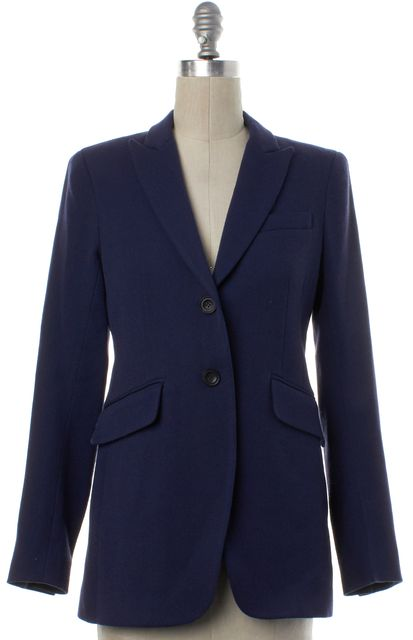 THEORY Blue Wool Two Button Blazer