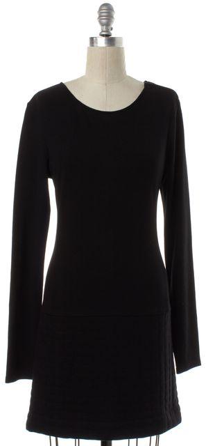 THEORY Black Long Sleeve Sheath Dress