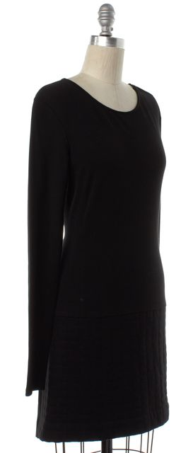 THEORY Black Long Sleeve Sheath Dress