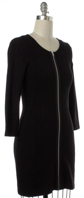 THEORY Black Zip Sheath Dress