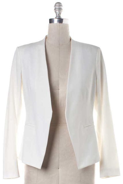THEORY White Open Blazer