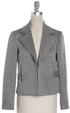 THEORY Gray Geometric Pattern Blazer Size 2