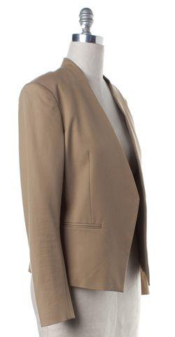 THEORY Beige Open Blazer Jacket