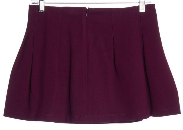 THEORY Purple Pleated Mini Skirt