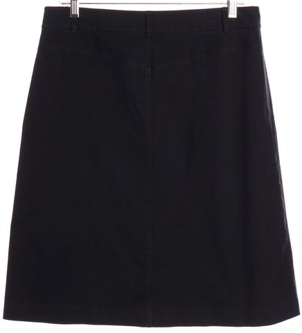 THEORY Navy Blue A-Line Skirt