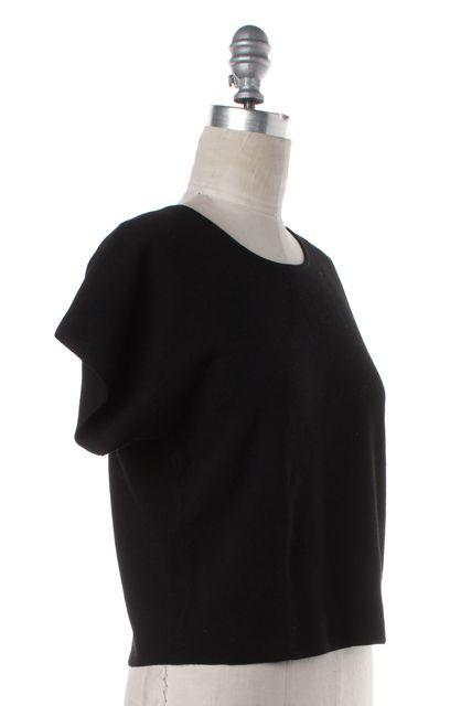 THEORY Black Knit Box Top