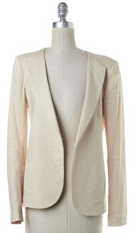 THEORY Beige Wool Open Blazer
