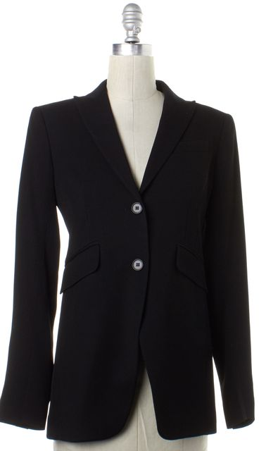 THEORY Black Wool Two Button Blazer
