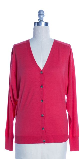THEORY Pink Wool Cardigan