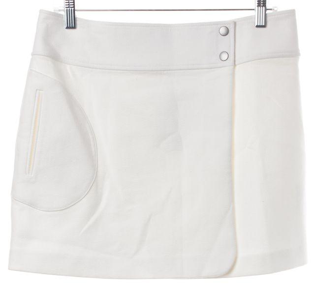THEORY White Wrap Mini Skirt