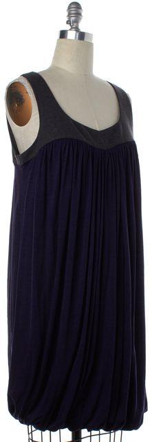 THEORY Purple Gray Wool Bubble Shift Dress