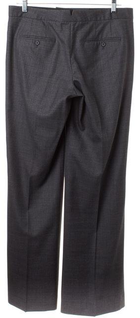 THEORY Gray Wool Straight Leg Trousers