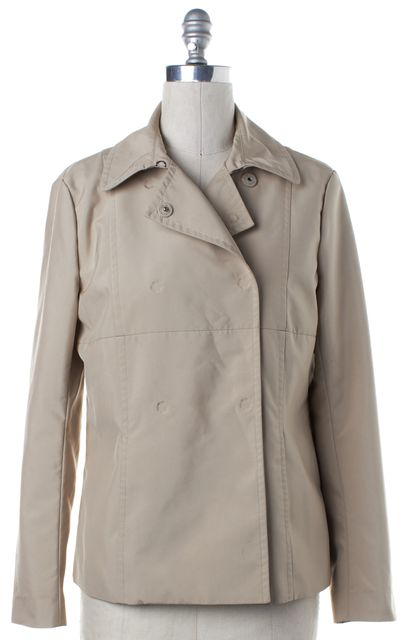 THEORY Beige Snap Button Jacket