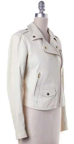 THEORY White Motorcycle Jacket