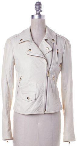 THEORY White Motorcycle Jacket