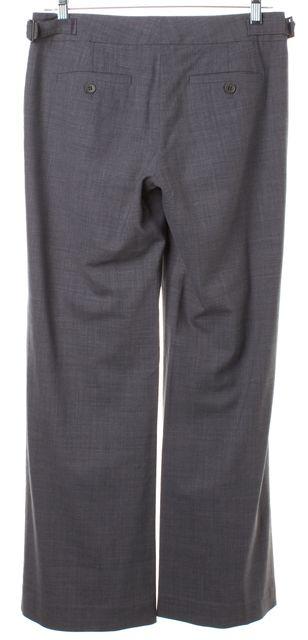 THEORY Gray Wool Waist Side Buckles Flared Leg Trousers Dress Pants