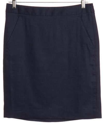 THEORY Blue Wool Mini Skirt