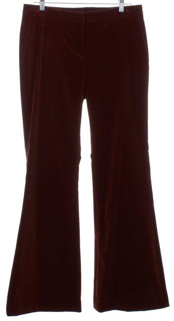 THEORY Burgundy Red Velvet Flare Pants