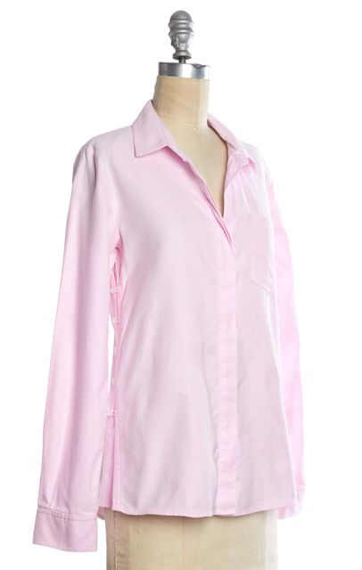 THEORY Pink Button Down Shirt