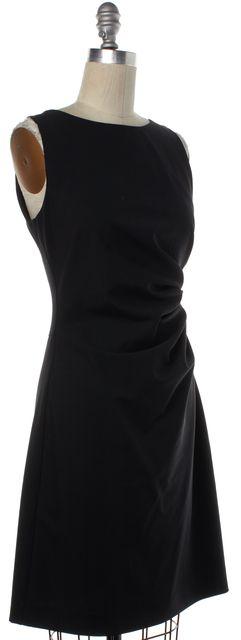 THEORY Black Wool Sheath Dress