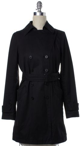 THEORY Black Cotton Trench Jacket