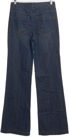 THEORY Blue Medium Wash Flare Leg Jeans