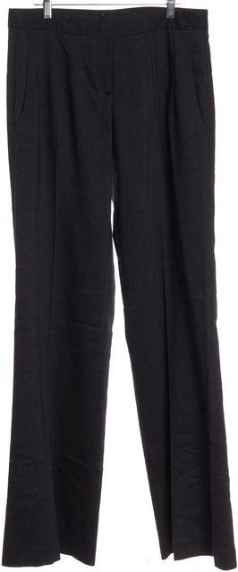 THEORY Gray Wool Wide Leg Trousers Pants