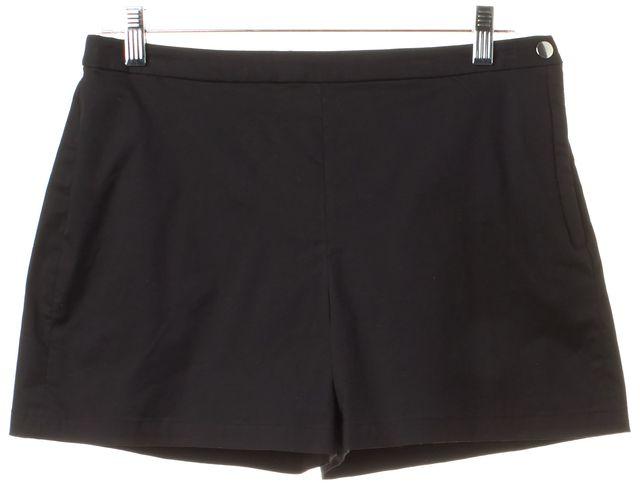 THEORY Black Stretch Cotton Micro Summer Twill Chino Shorts