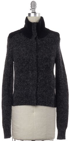 THEORY Gray Wool Mohair Knit Cardigan Sweater