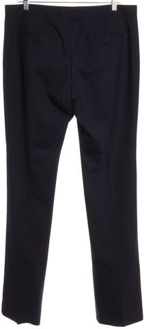 THEORY Navy Blue Pinstripe Wool Casual Pants