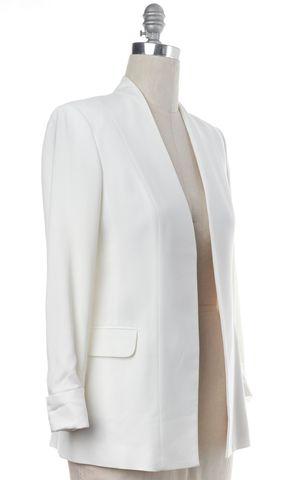 THEORY White Buttonless Blazer