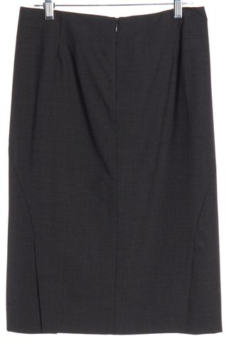 THEORY Gray Wool Pencil Skirt