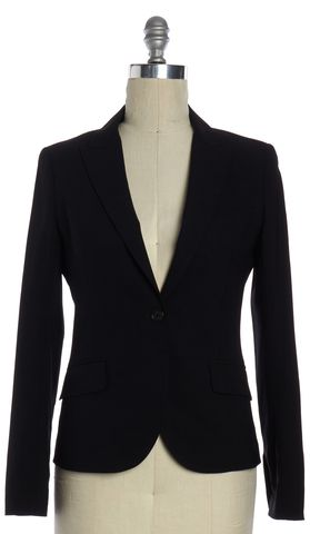 THEORY Black Cotton Blazer Jacket