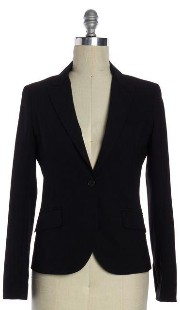 THEORY Black Cotton Blazer Jacket