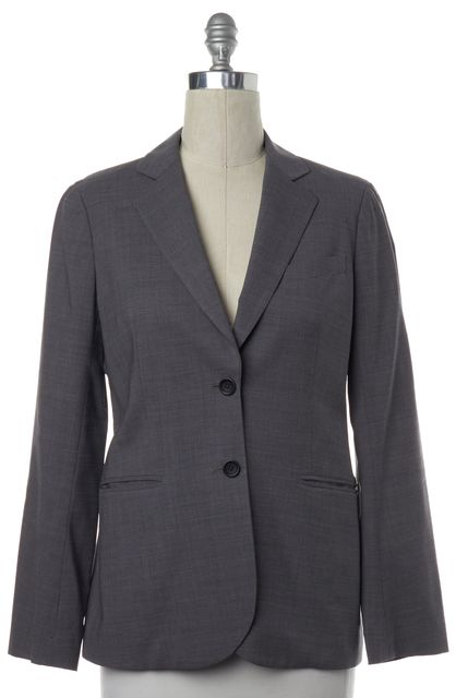 THEORY Gray Wool Two Button Classic Blazer