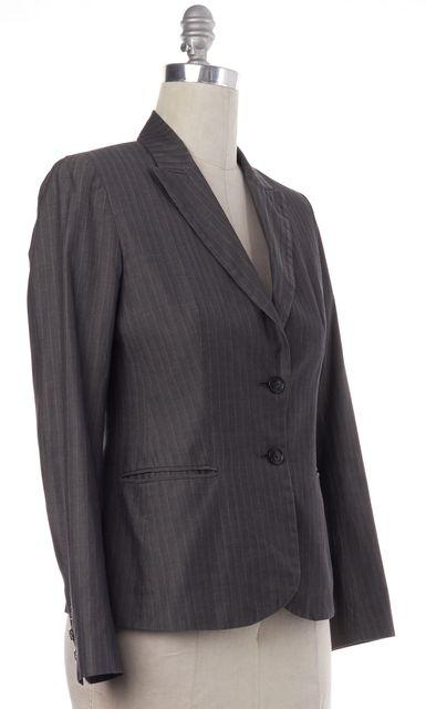 THEORY Gray Pinstriped Blazer Jacket